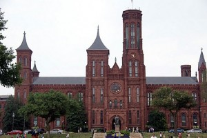 Sight seeing the Smithsonian Castle on the National Mall