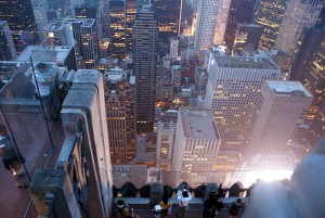 Top of the Rock View of Rockefeller Center